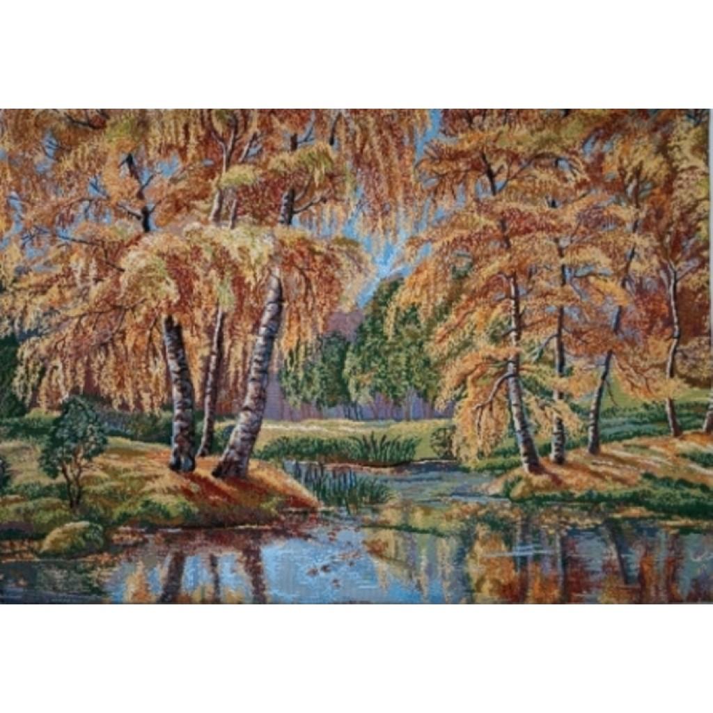 """Панно """"Осеннее озеро"""""""