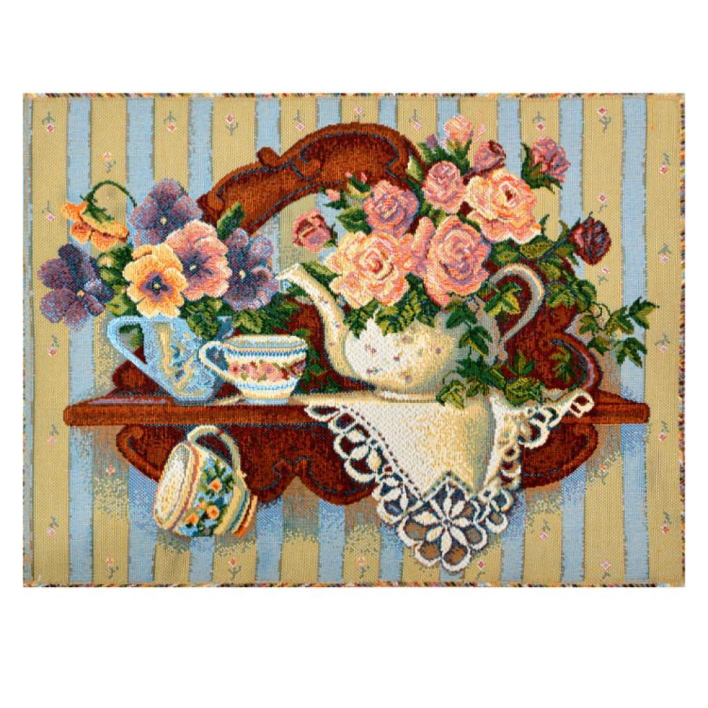 "Картина ""Роза в чайнике"""