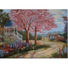 "Картина ""Розовый сад"""