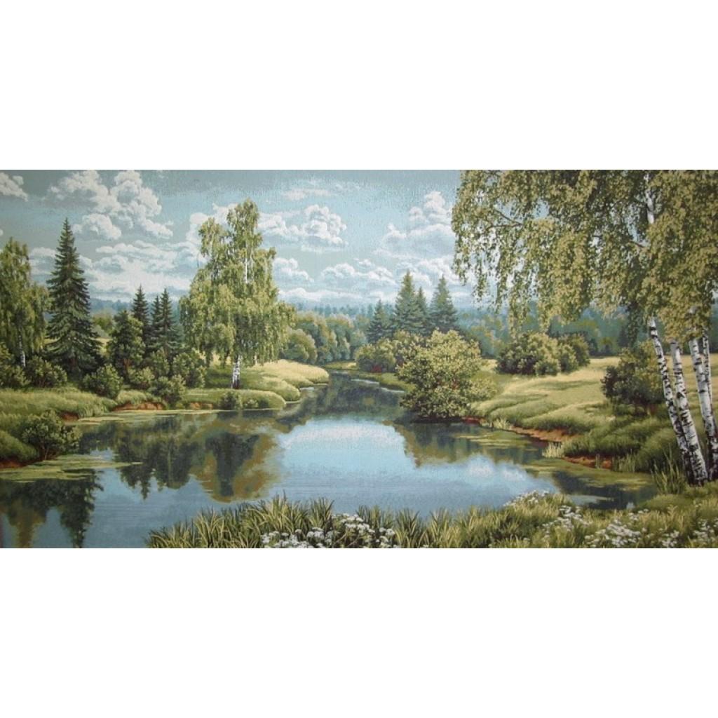 """Картина """"Пейзаж с березой"""""""
