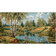 "Картина ""Пейзаж с утками"""