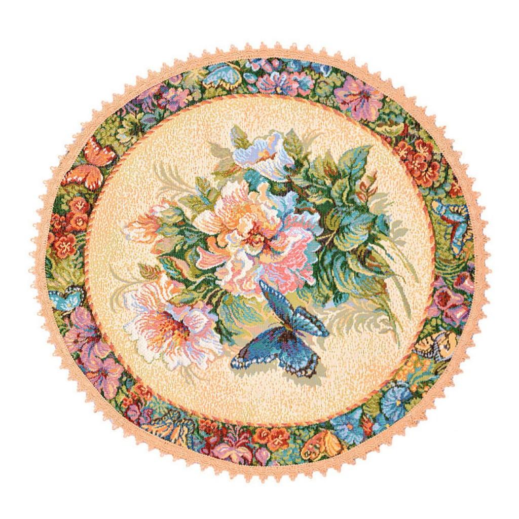 """Салфетка из гобелена """"Вальс цветов"""""""