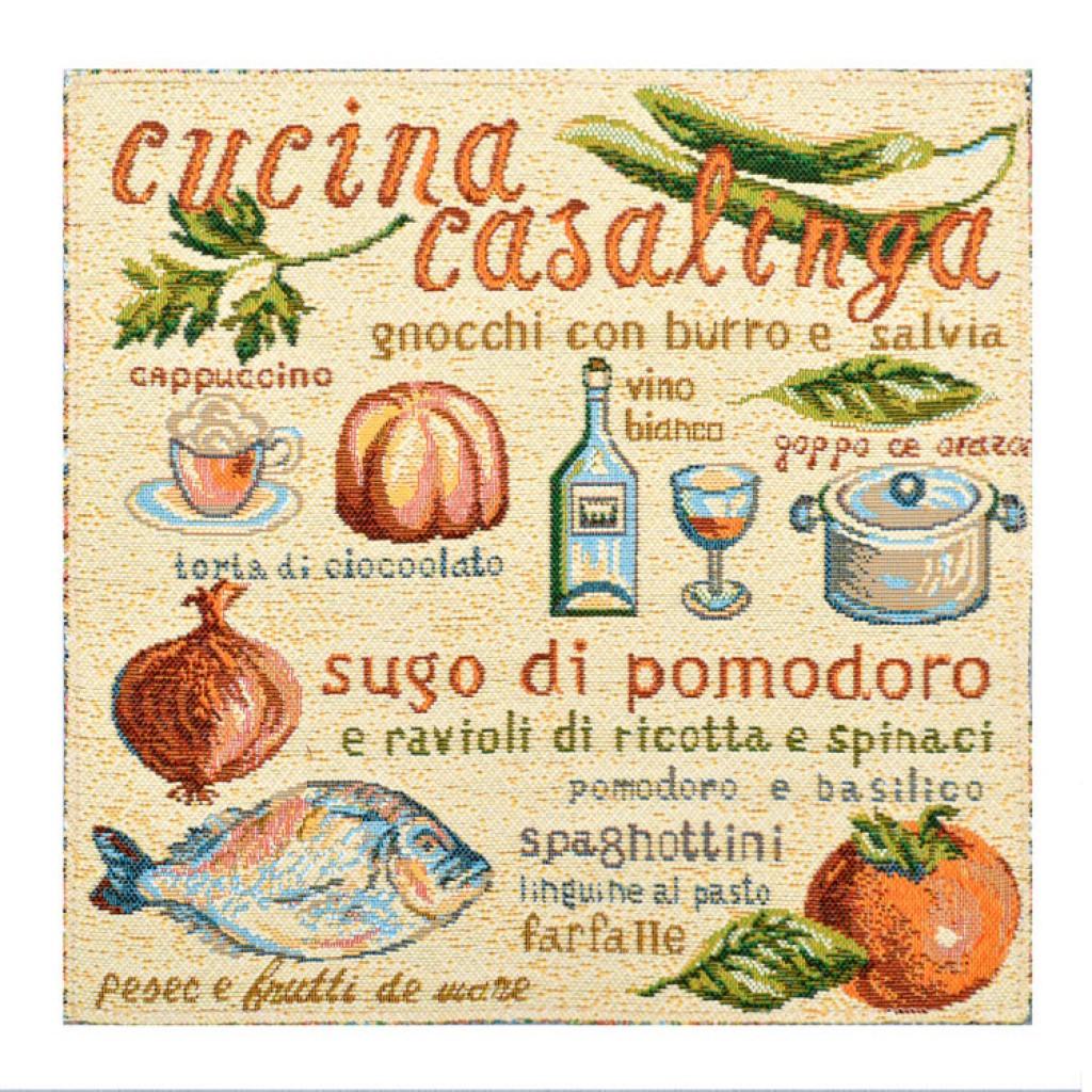 """Салфетка из гобелена """"Итальянская кухня"""""""
