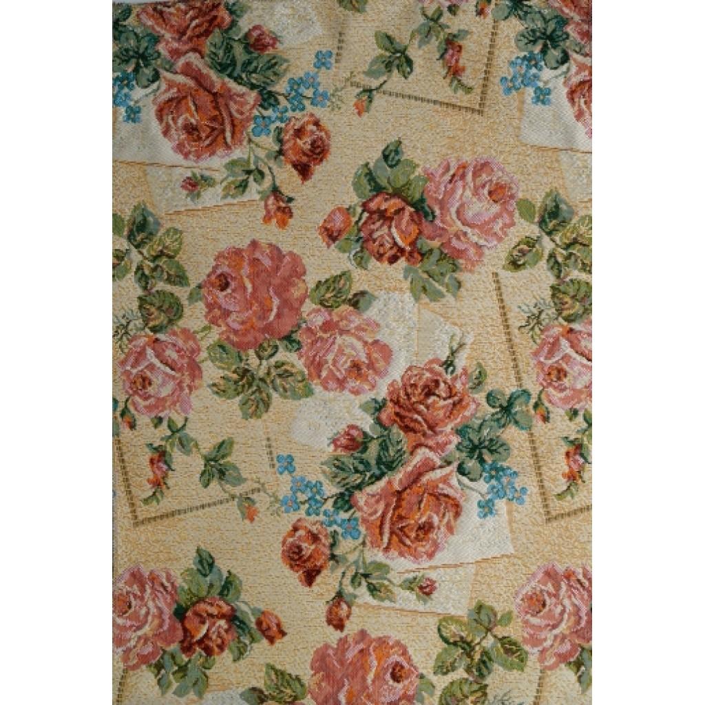 "Гобеленовая ткань ""Нежные розы"""